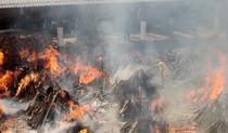 Incinerararea mortilor Covid in India