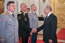 Vladimir Putin, intalnire cu comandanti militari rusi
