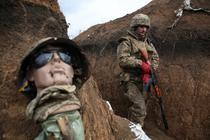 Soldat ucrainean in Donbas