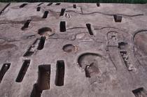 O parte a mormintelor descoperite la Dakahlia