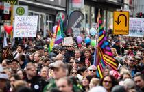 Protest anti-restrictii in Germania