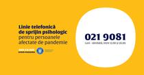 linie telefonica de sprijin psihologic