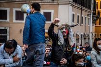 Proteste anti-restrictii la Roma