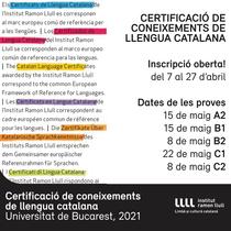 Exàmens oficials de certificació de coneixements de català a Bucarest