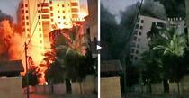 Gaza, cladiri distruse de atacurile Israelului