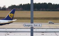 Avion Ryanair pe aeroportul din Frankfurt