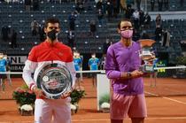 Rafael Nadal si Novak Djokovic la Roma