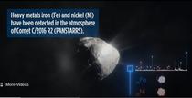 metale grele gasite in atmosferele cometelor