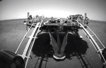 Platforma de pe care s-a dat jos roverul chinez Zhurong