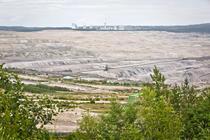 Vedere cu mina de lignit de la Turow
