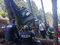 Accident de telecabina in Italia