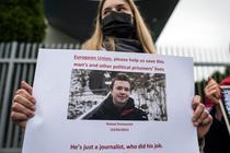 Protest in fata ambasadei Belarusului din Varsovia