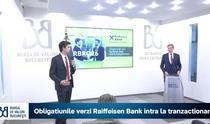 Romulus Mircea si Steven van Groningen la BVB cu ocazia listarii primelor obligatiuni verzi ale Raiffeisen Bank