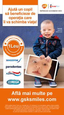 """GSK Consumer Healthcare, în parteneriat cu Smile Train, lansează campania """"Zâmbetele schimbă vieți"""""""
