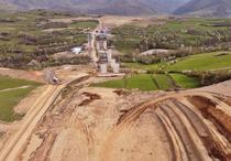 Viaductul Talmacelu, in constructie la inceput de mai 2021
