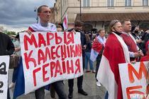 manifestare pentru eliberarea lui Protasevici, Varsovia (sursa foto: twitter)