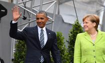 Fostul presedinte american Barack Obama alaturi de cancelarul german Angela Merkel