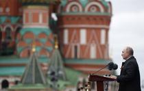 Vladimir Putin in Piata Rosie