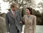 Printul Philip cu regina elisabeta a ii-a dupa casatorie