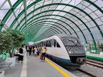 Trenul la gara de la Aeroport