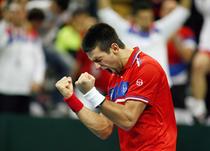 Djokovic castiga contra lui Monfils in finala Cupei Davis din 2010