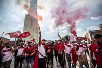 Fani ai Turciei la meciul cu Italia