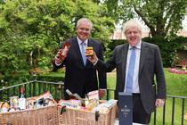 Scott Morrison si Boris Johnson