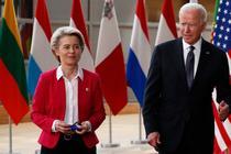 Ursula von der Leyen si Joe Biden