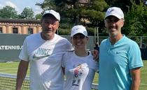Daniel Dobre, Simona Halep si Darren Cahill