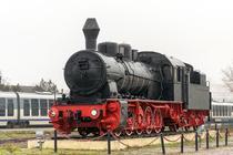 Locomotiva cu abur expusa la Tulcea
