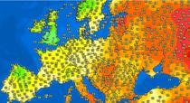 Temperaturile in Europa in dimineata zilei de 23 iunie 2021