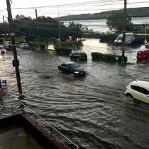 Strazi inundate in Galati