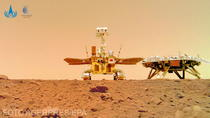 Rover-un chinez Zhurong si platforma sa
