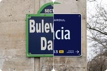 Placute cu nume de strazi din Bucuresti