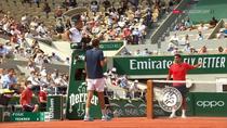 Roger Federer si avertismentul primit pentru ca a intarziat serviciul lui Cilic