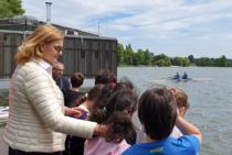 Elisabeta Lipa si copiii dornici de sport