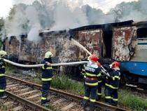 Locomotiva arsa in Poarta de langă Teregova