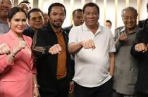 Manny Pacquaio alaturi de presedintele Rodrigo Duterte