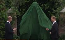 William si Harry la dezvelirea statuii printesei Diana