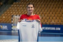 Raluca Radoi portarul Nationalei Romaniei de tineret la handbal feminin