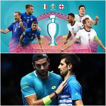 Italia VS Anglia Fotbal Djokovich VS Berrettini Tenis