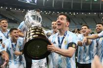 Lionel Messi si trofeul Copa America
