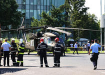 Elicopter BlackHawk a aterizat forțat la Aviatorilor