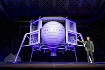 Jeff Bezos si Blue Moon lunar lander