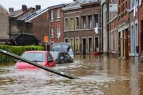 Inundatii in Liege, Belgia