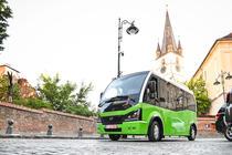 Microbuzele electrice in centrul Sibiului