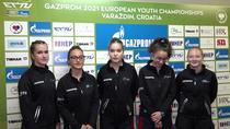 Echipa feminina a Romaniei la Campionatele Europene de tenis de masa U19