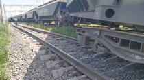 tren de marfa deraiat pe magistrala Bucuresti - Constanta