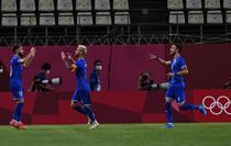 Bucuria tricolorilor dupa golul cu Honduras de la Tokyo
