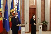 Bogdan Aurescu si Maia Sandu (sursa: twitter)